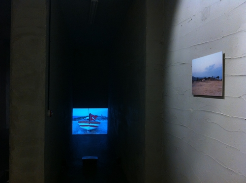 video, 01' <br />photograph, 20x30cm<br />Installation view from 'Learned Helplessness' Bergsen&Bergsen, 2014<br />Photo: Andreas Nader